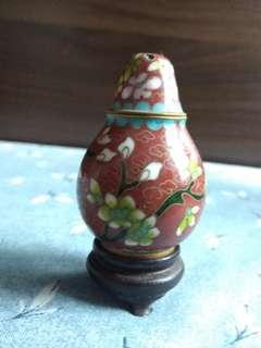 景泰藍糊椒瓶