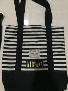 Totebag Best luck + patch nirvana