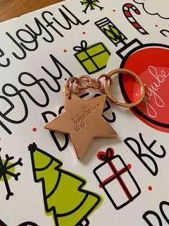 🚚 brand new jujube pink lady ooakpl key chain