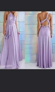Lavender Infinity Gown
