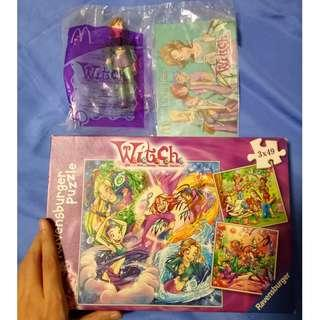 W.I.T.C.H. set: Puzzle and figure