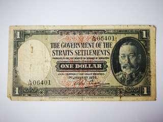 1935 The Government of Straits Settlements $1
