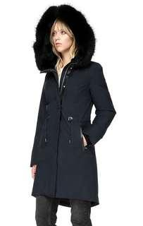 Mackage Enia navy with black fur parka jacket