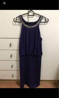 🚚 Forever New navy blue embellished dress