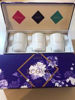 Ecoya Mini Botanic Candle Gift Set x3 Signature Fragrances