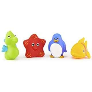 <FREE DELIVERY!> Munchkin Baby Toddler Kids Genuine BPA Free Silicone Ocean Squirts Bath Toys - 4 PCS Set