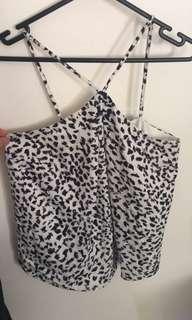 Keepsake snow leopard print top size xs 6-8