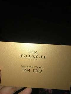 Coach Shopping voucher
