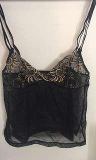 Vintage lace camisole Simone Perele size 8