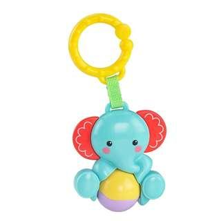 <FREE DELIVERY!> Genuine FisherPrice Rattle & Roll Elephant Ball Newborn Baby Hook On Interactive Toy