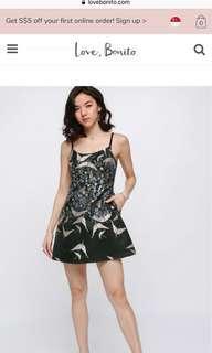 Dafelle embroidered mini dress