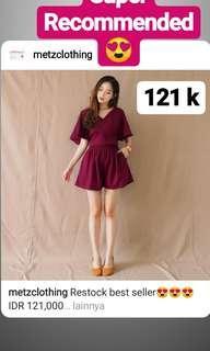 Pakaian wanita / Dress / jumpsuit / atasan / crop top / tank top ready stock