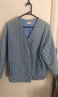 Gorman quilted chambray denim jacket size 8