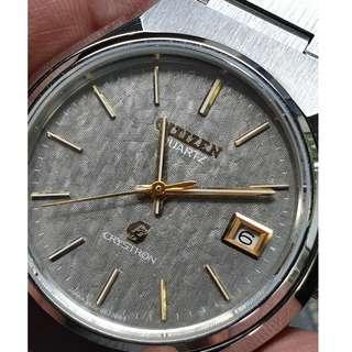 (A311) Vintage Mint Citizen Crystron Quartz Watch