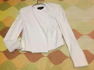 Mango 白色西裝外套