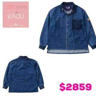 The north face purple label  Broken trill Denim shirt jack.