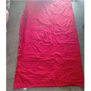 Red bed sheet fitted with 3pcs pillow case