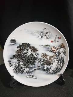 Display Plate with Snowscape