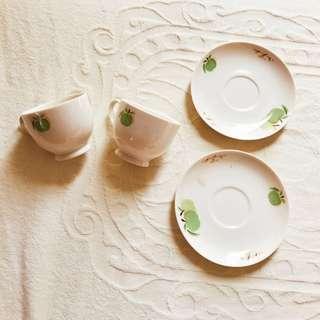 🚚 歐式極美下午茶瓷杯 一組兩人超值