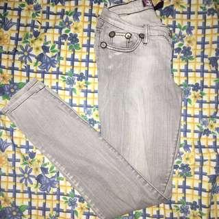 Light Grey Denim Jeans Pants