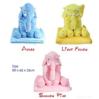 💯 Stuffed Cute Simulation Giant Elephant Plush Doll Toy Pillow with Blanket