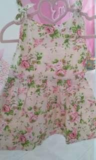 Dress Anak baby bayi 12m bunga