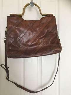 Leather retro hippy bag