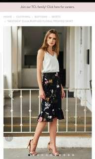 Ellia Ruffled floral printed skirt - TCL