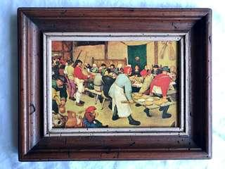 """Decorative painting (frame is about 7.5✕6"""")"""