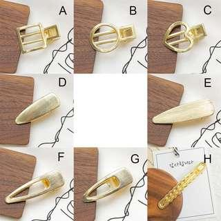 Brand New Metal Gold Hairpin Hairclip