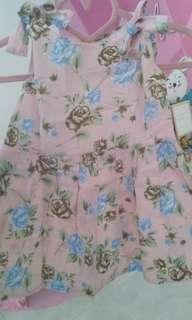 Dress Anak bayi baby 12m bunga