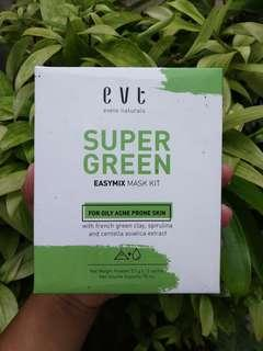Preloved evete super green easymix mask kit