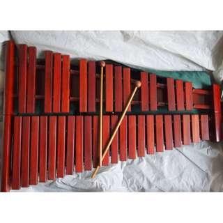 木琴,三十七鍵,敦煌牌,上海民族樂器,連厚套--勿壓價
