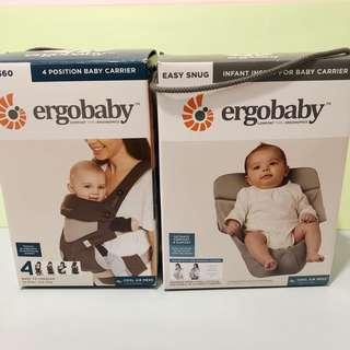 Ergobaby Cool Air Mesh Carrier with Infant Insert (Dark Gray)