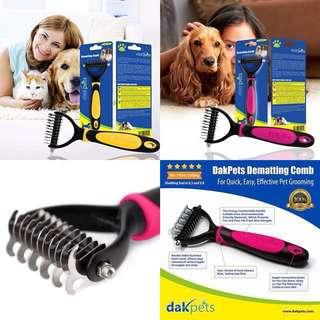 🚚 RESTOCK! HIGHLY RECOMMENDED!!!! Best Grooming Comb for Dogs and Cats Dematting Deshedding Brush by DakPets