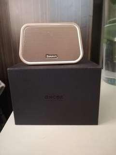 🚚 ❤️Baseus倍思 E02 多功能 藍芽小音箱 迷你音響 藍芽 喇叭 簡單操作 防滑。🙈金色限量款 #半價良品市集