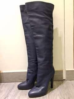 Giuseppe Zanotti design over the knee boots 39 - leather boot jimmy choo navy roger vivier high heel Sergio gianvito Rossi staccato