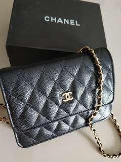 Chanel WOC Caviar Black Leather Handbag