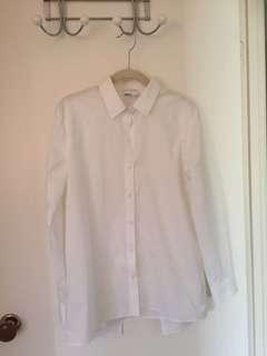 WITCHERY Classic White button up long sleeve shirt
