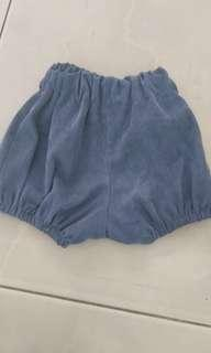 celana pendek pop model bloomers size 12m