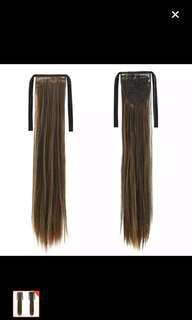 🚚 Tie ponytail wig
