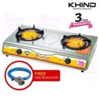 Khind Infrared Gas Stove (IGS1515) Free Gas Regulator Kit(WORTH RM49)  ~NEW ARRIVAL