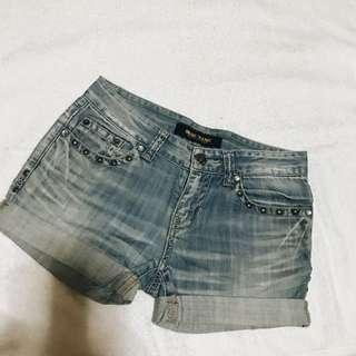 Bruins Jeans Studded Maong Shorts