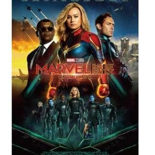 Captain Marvel Movie Ticket [ 11/3/2019 Mon 19:50 Sky Vivo @ Olympian City ]