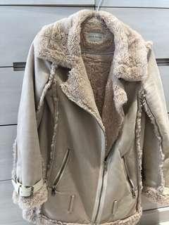 麂皮內鋪毛溫柔外套 大衣