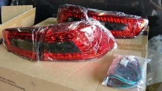 Red base led rear light for lancer, inspira & evo10