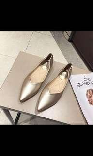 Comfy Gold Pointed Pumps uk 2 us 35