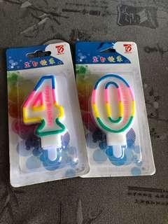 Birthday candle 40
