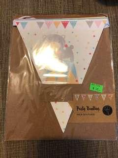 Party Bunting ( pack of 6 flags)