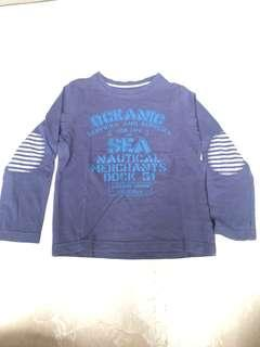 Mothercare Oceanic Nautical Navy Blue Long Sleeved Top
